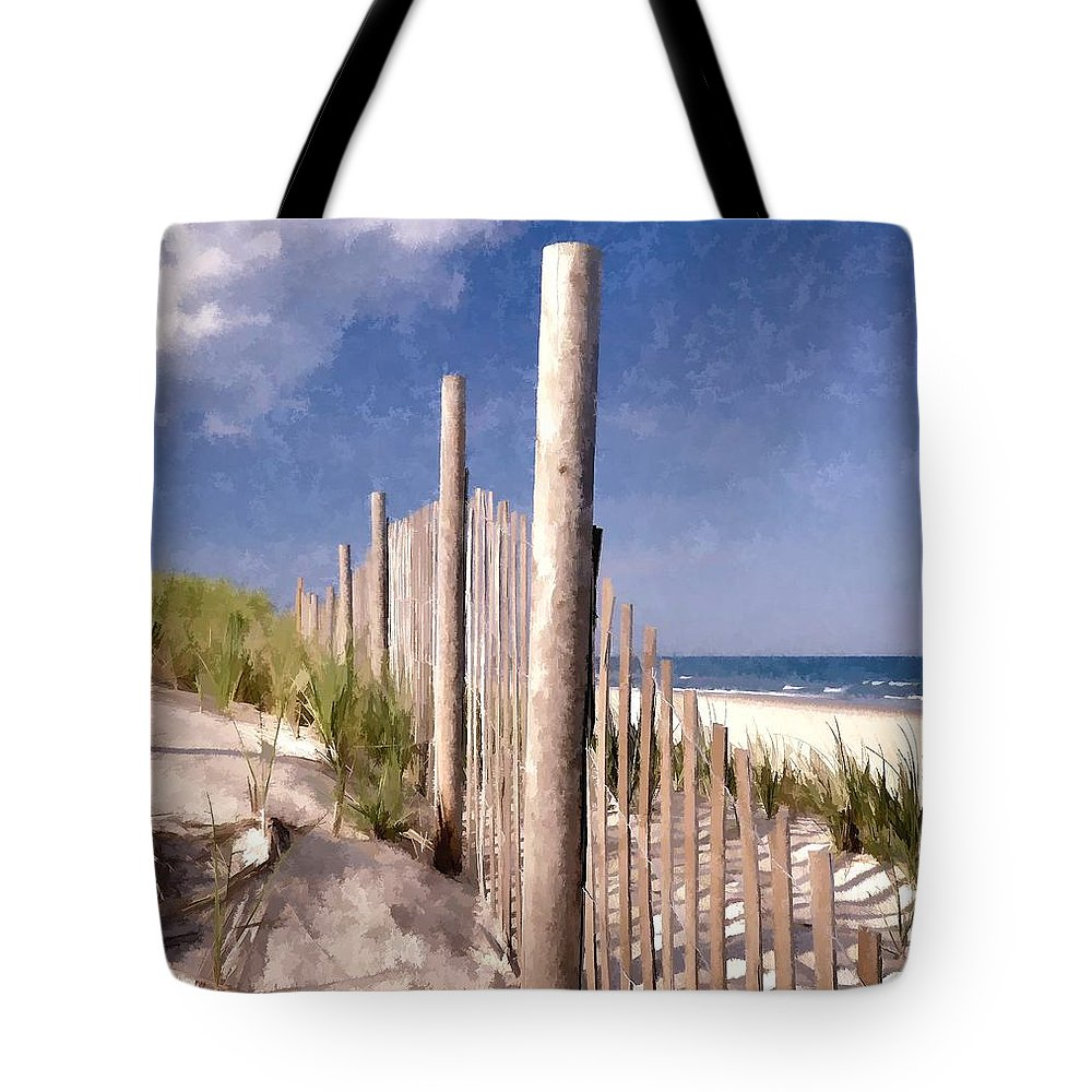 Digital Paintings Tote Bag featuring the photograph Jersey Shore by Allen Beatty
