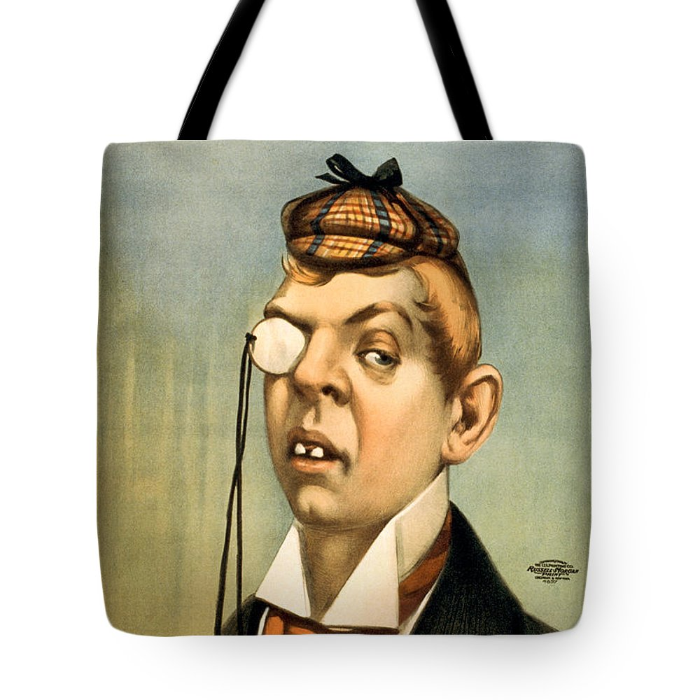 Entertainment Tote Bag featuring the drawing Jess Of The Bar Z by Aged Pixel