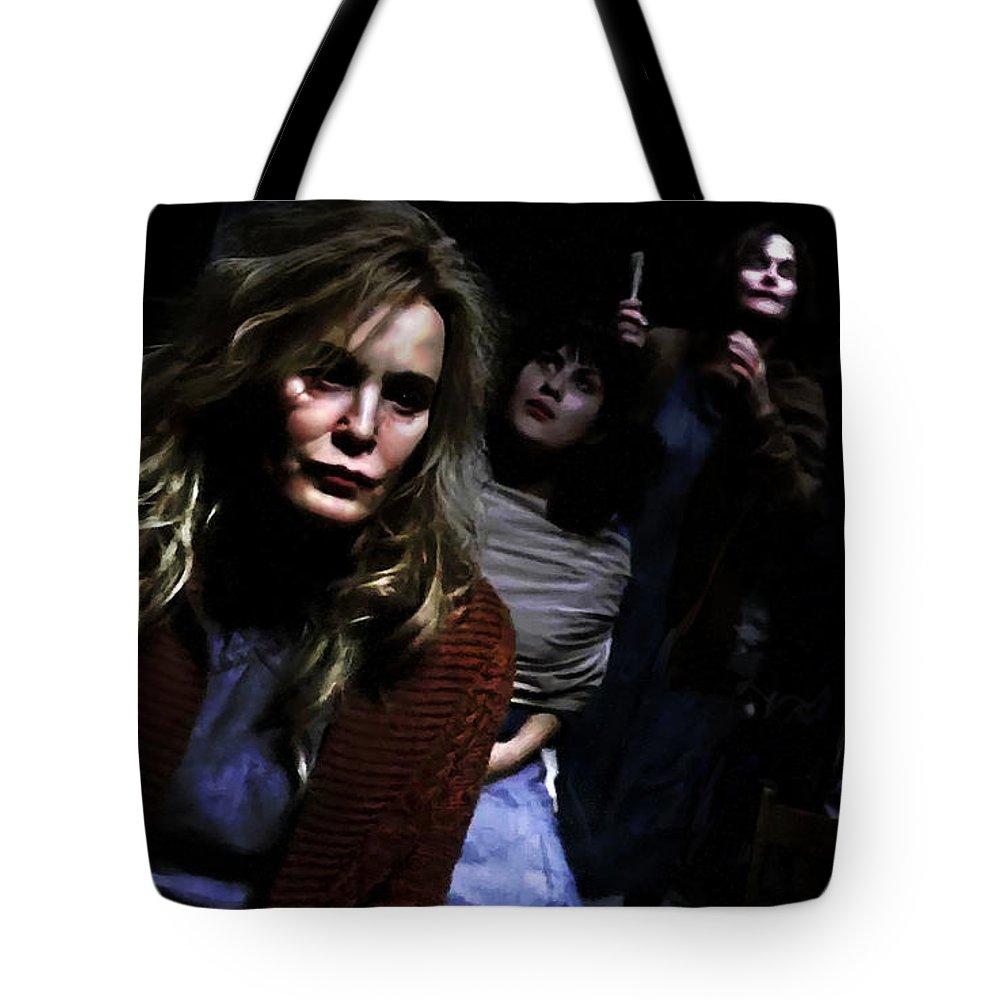 American Horror Story: Asylum Tote Bag featuring the digital art Jessica Lange as Sister Jude @ TV serie American Horror Story Asylum by Gabriel T Toro