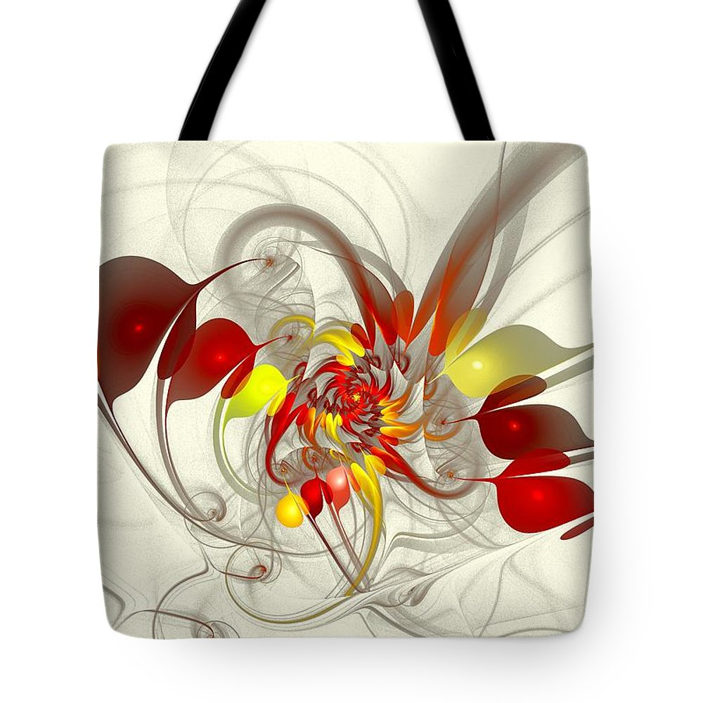 Jester Tote Bag featuring the digital art Jester by Anastasiya Malakhova