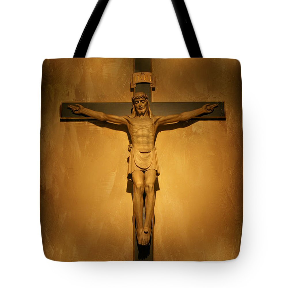 Jesus Tote Bag featuring the photograph Jesus 2 by Susan McMenamin