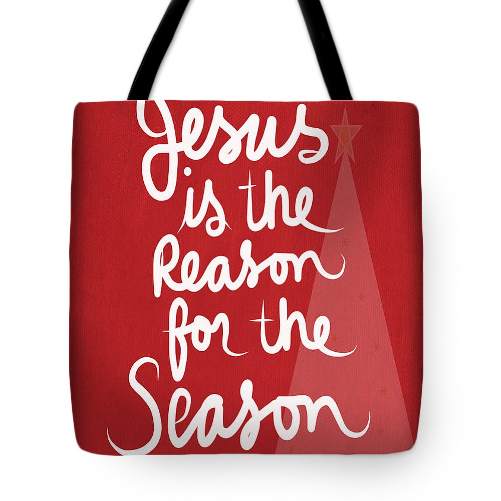 Jesus Is The Reason For The Season Greeting Card Tote Bag For Sale