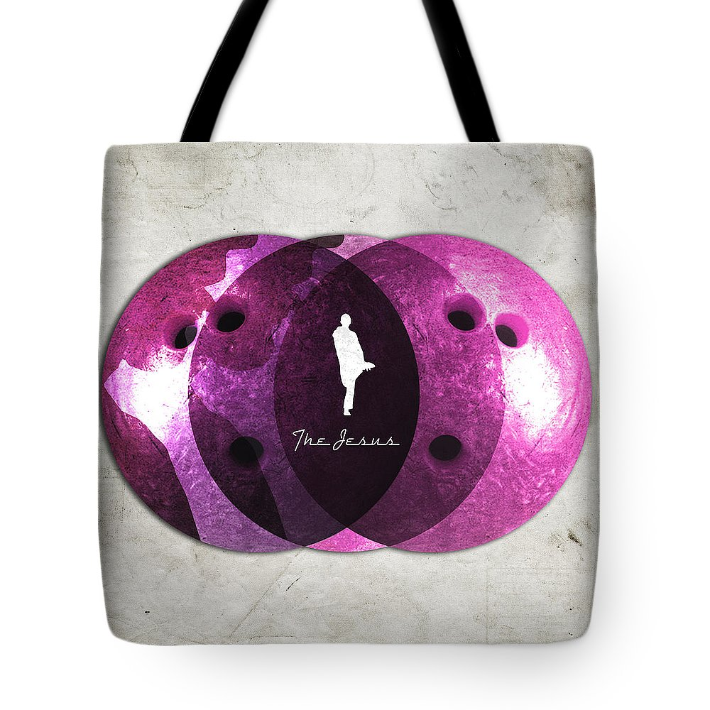 Jesus Tote Bag featuring the digital art Jesus Quintana Bowiling by Filippo B
