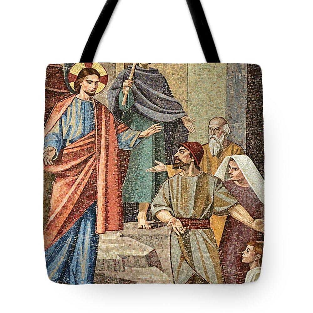 Jesus Tote Bag featuring the photograph Jesus Visit by Munir Alawi