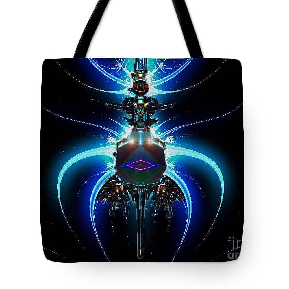2-dimensional Tote Bag featuring the digital art Jet Pack by Dana Haynes