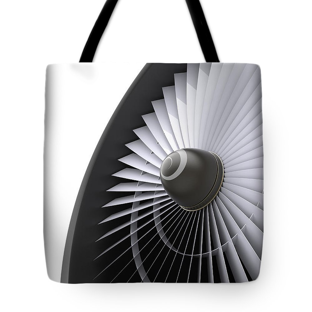 Engine Tote Bag featuring the photograph Jet Turbine by Klenger