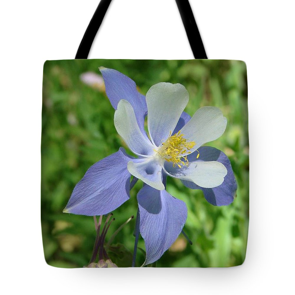 Columbine Tote Bag featuring the photograph Jewel In The Glade by Margaret Bobb