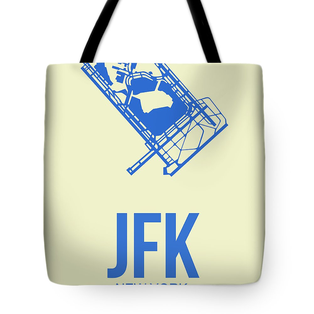 Tote Bag featuring the digital art Jfk Airport Poster 3 by Naxart Studio