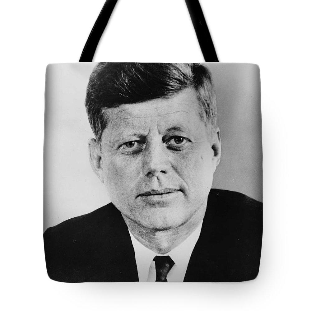John F Kennedy Tote Bag featuring the digital art JFK by Georgia Fowler