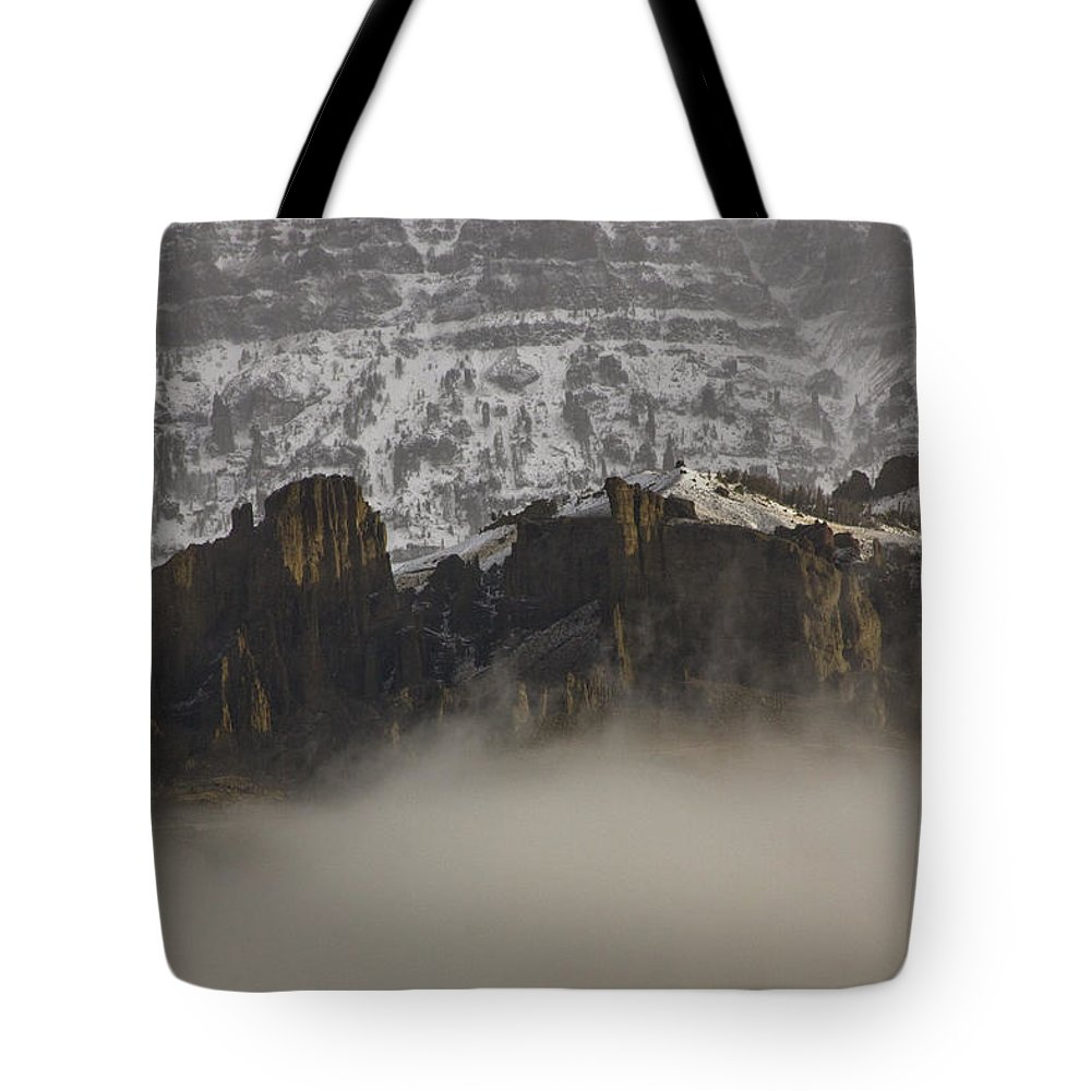 Jim Mountain Tote Bag featuring the photograph Jim Mountain  #6516 by J L Woody Wooden