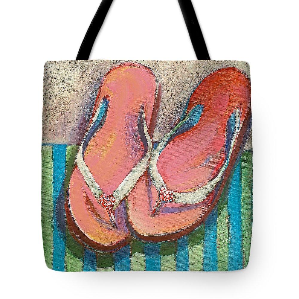 7d8a7904d86695 Pink Flip Flops Tote Bag for Sale by Jen Norton