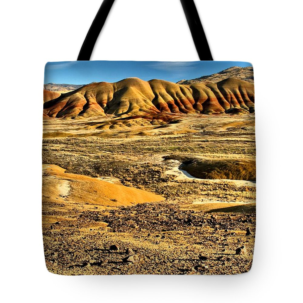 Painted Hills Tote Bag featuring the photograph John Day Oregon Landscape by Adam Jewell