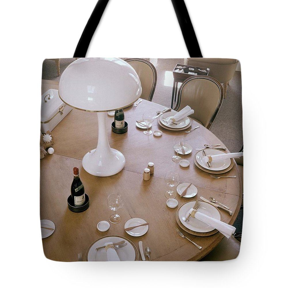 Home Tote Bag featuring the photograph John Dickinson's Dining Table by Fred Lyon