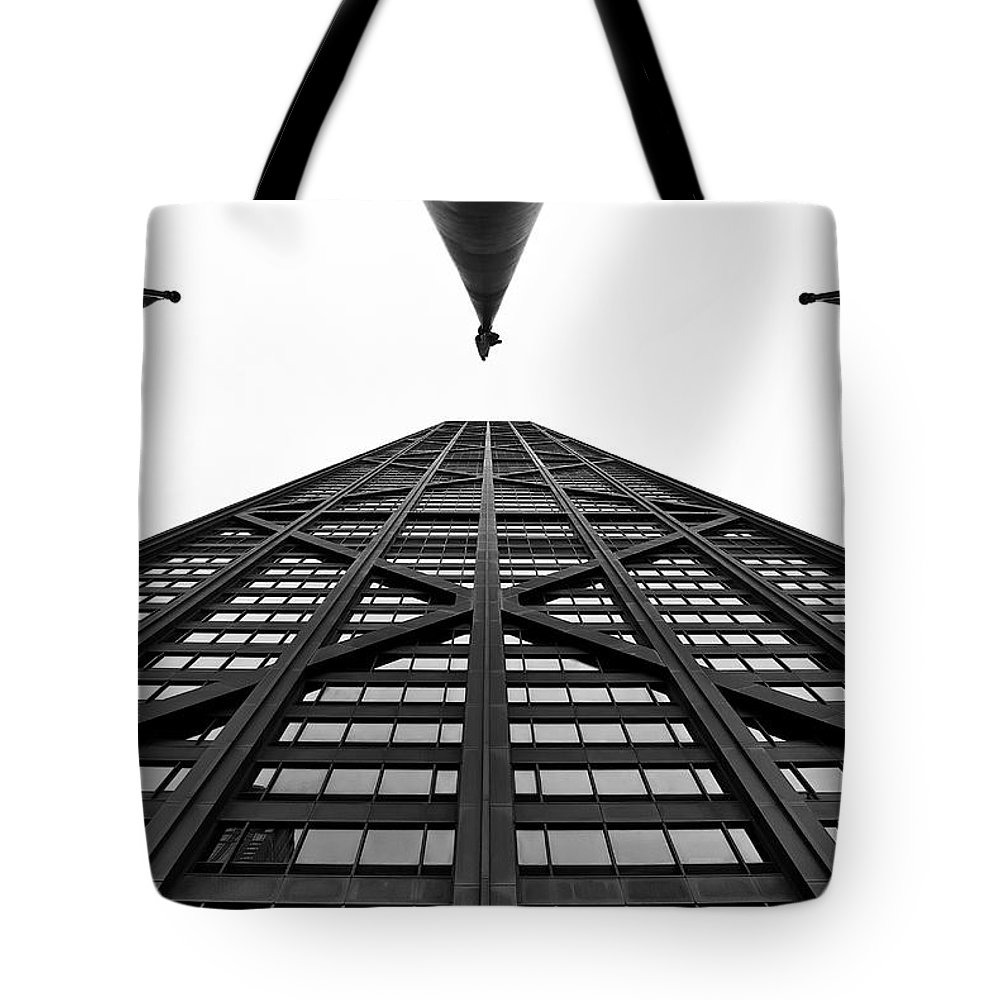 Chicago Tote Bag featuring the photograph John Hancock Building by Onyonet Photo Studios