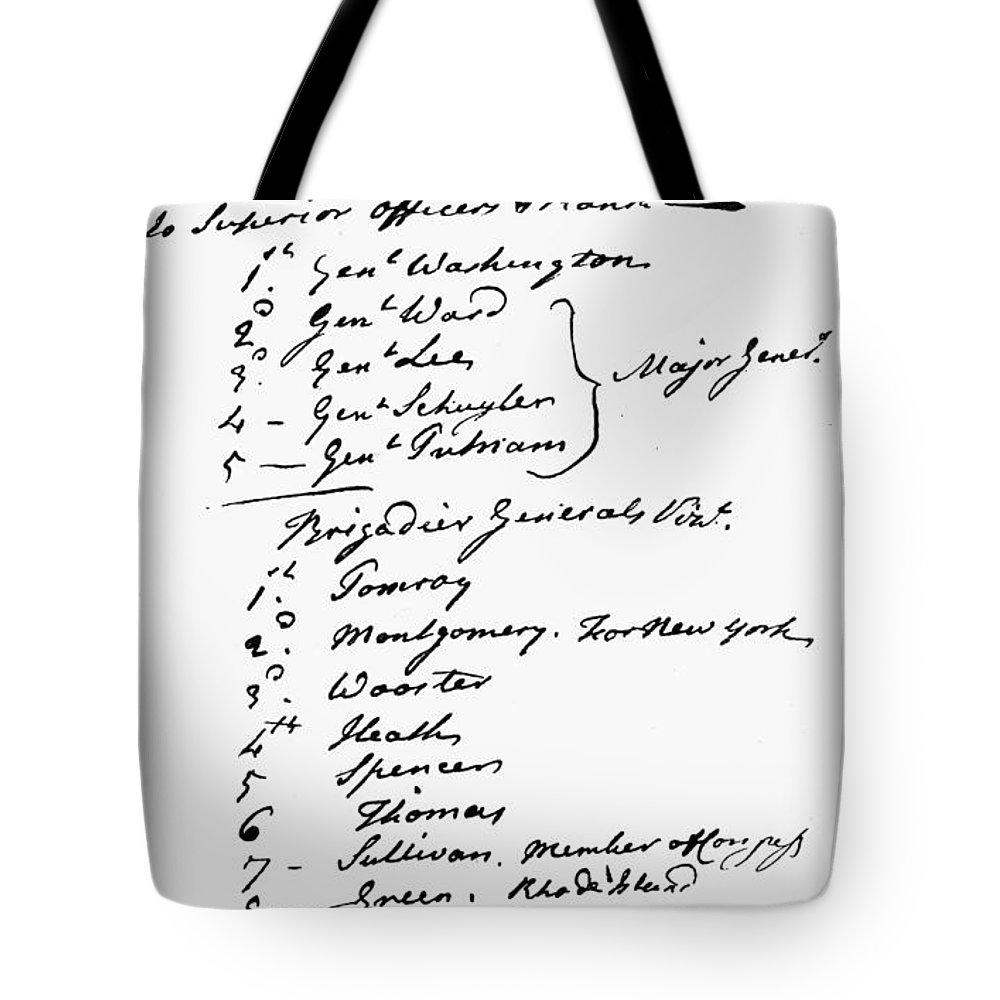 1775 Tote Bag featuring the photograph John Hancock Memorandum by Granger