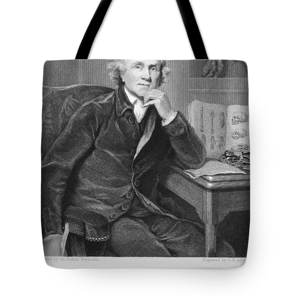 18th Century Tote Bag featuring the photograph John Hunter (1728-1793) by Granger