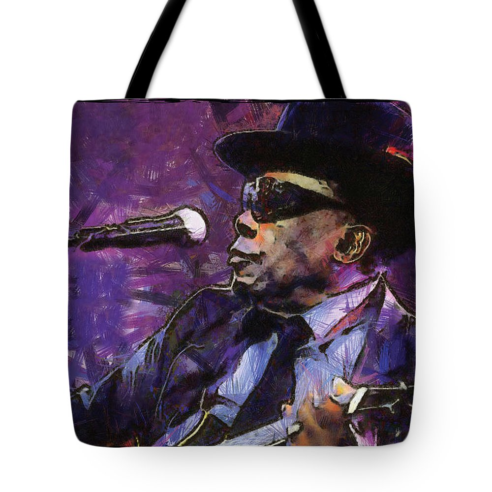 John Lee Hooker Tote Bag featuring the digital art John Lee Hooker by Martin Deane