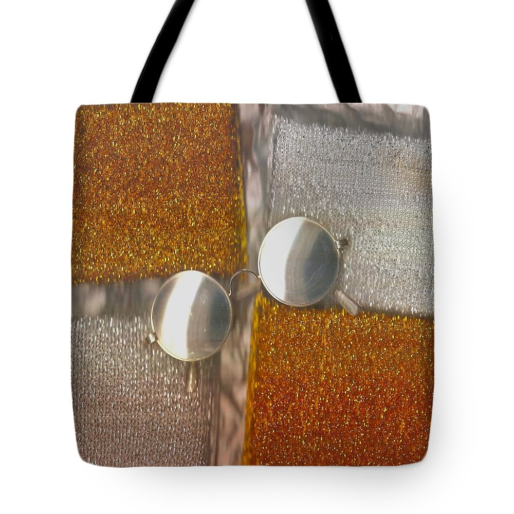 Landscape Tote Bag featuring the mixed media John Lennon In The Kitchen by Pepita Selles