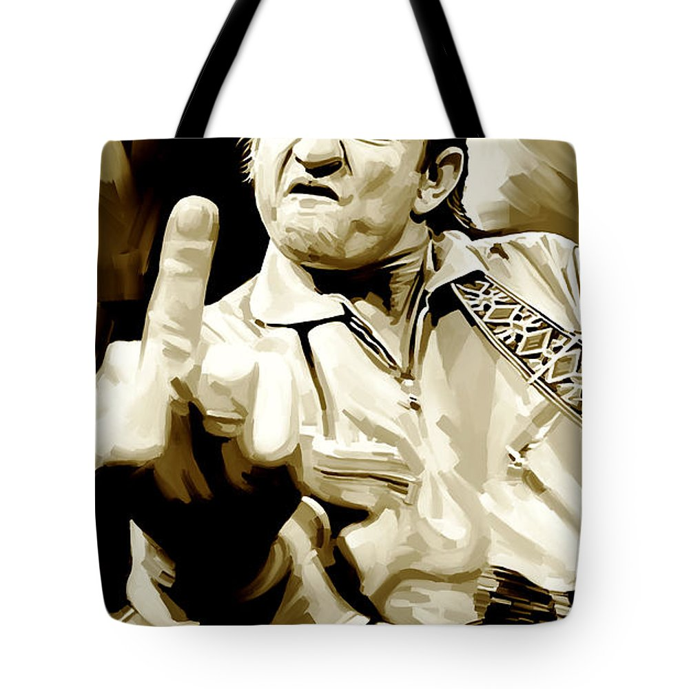 Johnny Cash Tote Bags