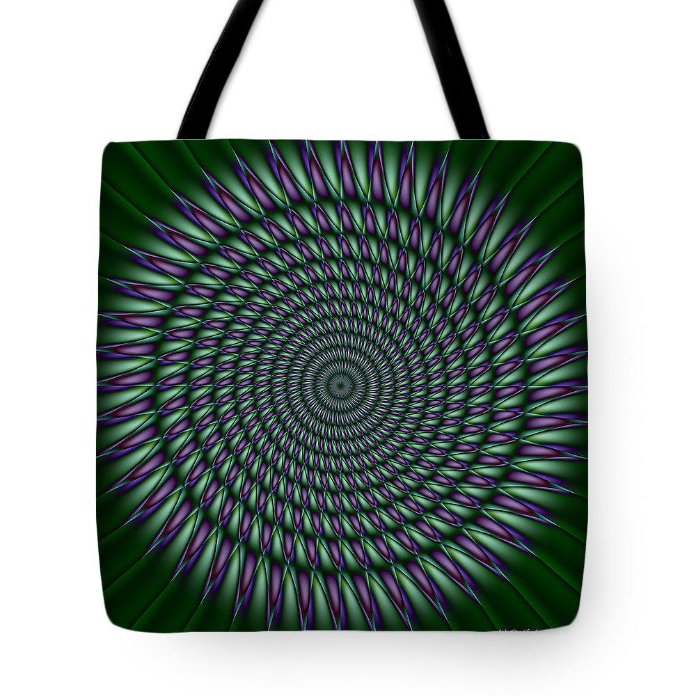Mandala Tote Bag featuring the digital art Joker Mandala by WB Johnston
