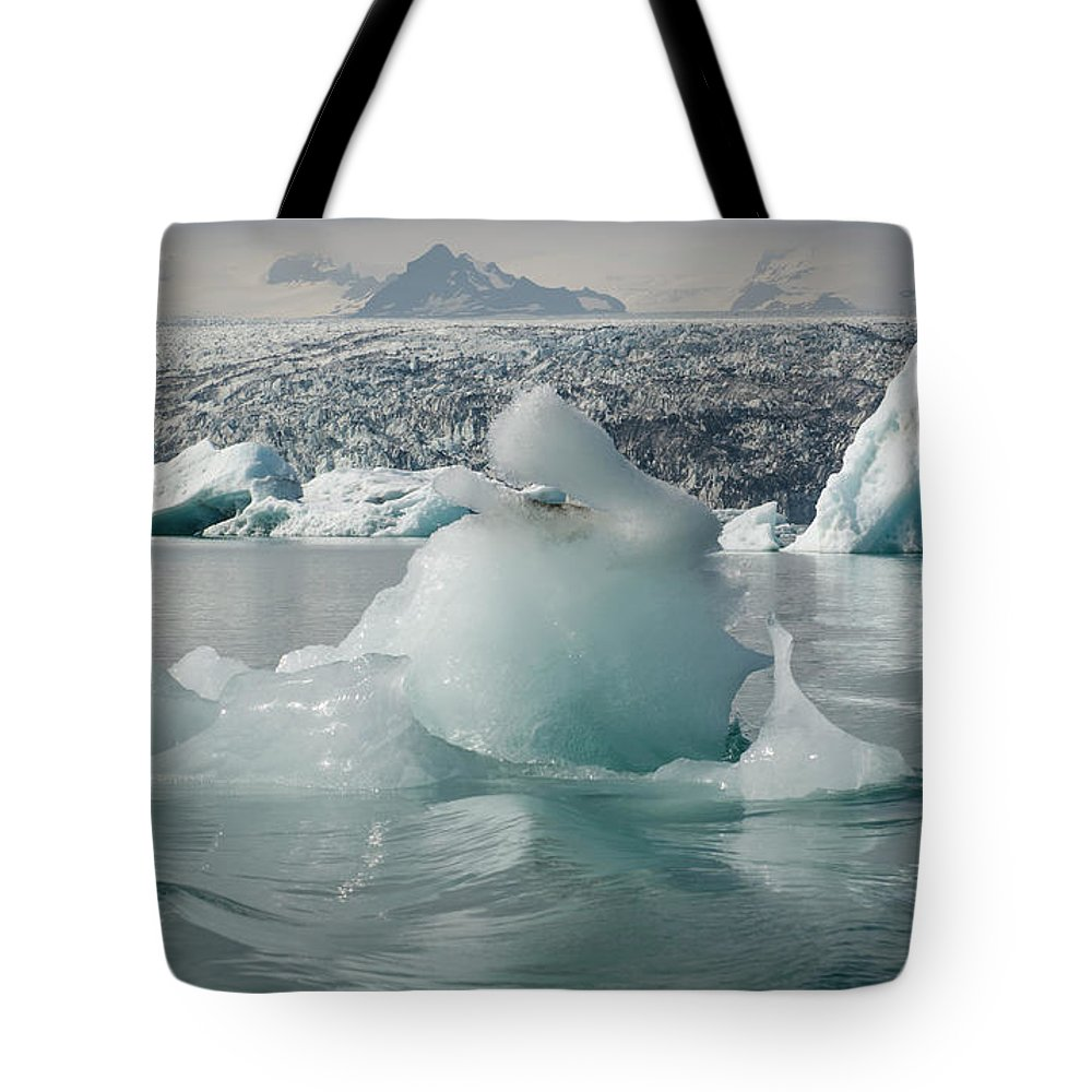 Tranquility Tote Bag featuring the photograph Jokularsson Glacier Lagoon by Jamie Gordon