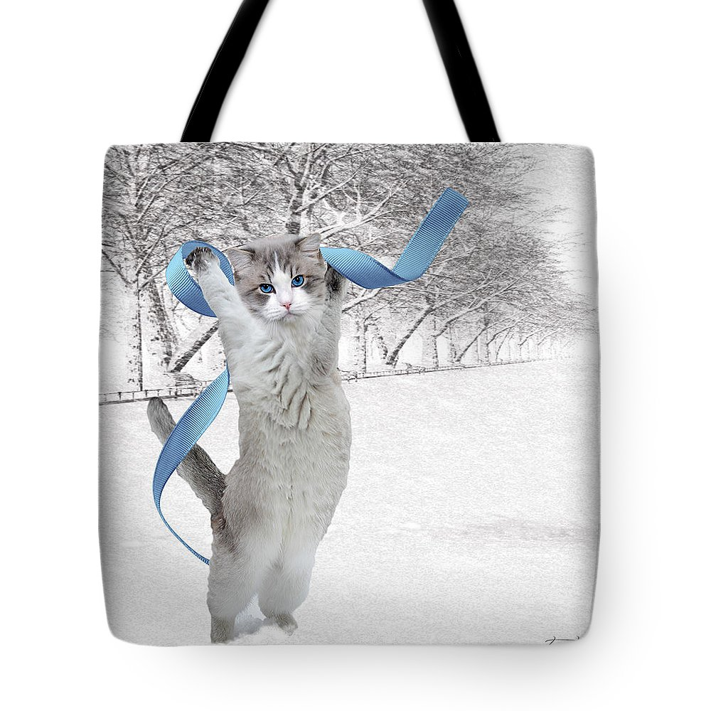 Fine Art Tote Bag featuring the digital art Jolly by Torie Tiffany