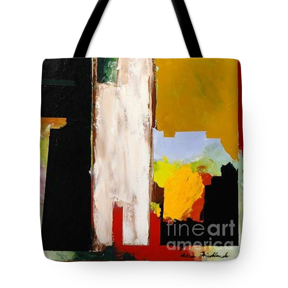 Landscape Tote Bag featuring the painting Jordan Park 511 by Allan P Friedlander