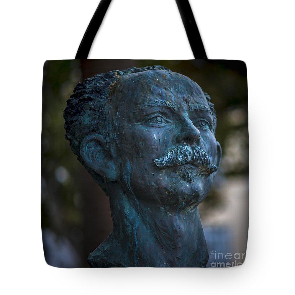 Andalucia Tote Bag featuring the photograph Jose Marti Statue Cadiz Spain by Pablo Avanzini