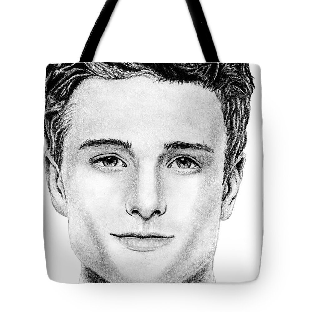 Josh Tote Bag featuring the drawing Josh Hutcherson by Kayleigh Semeniuk