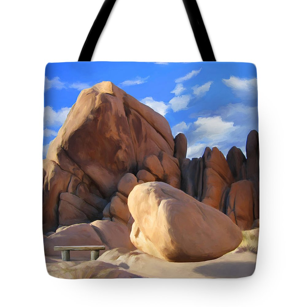 Joshua Tree Tote Bag featuring the painting Joshua Tree Anomoly by Snake Jagger