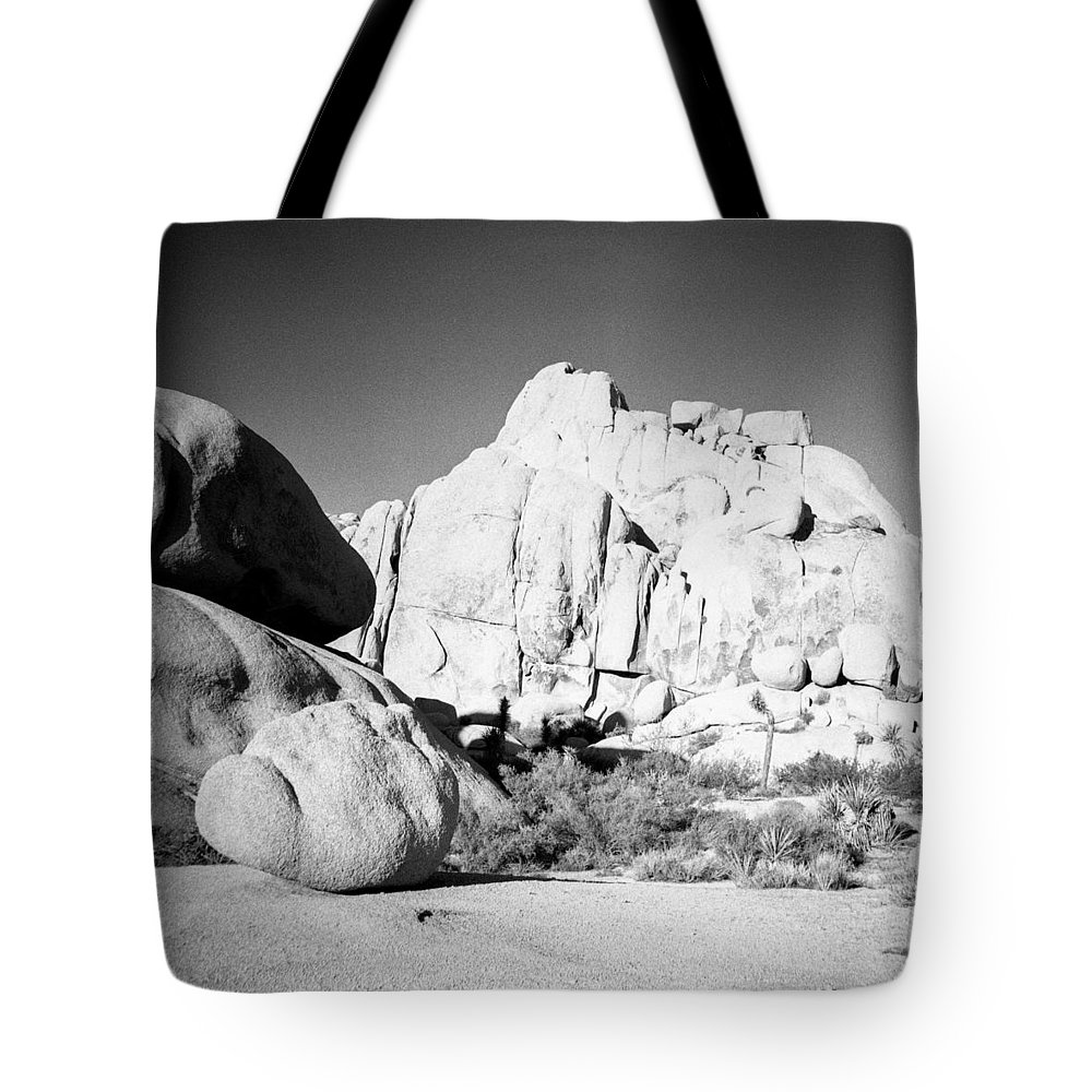 Diana F+ Tote Bag featuring the photograph Joshua Tree Rock Formation by Alex Snay