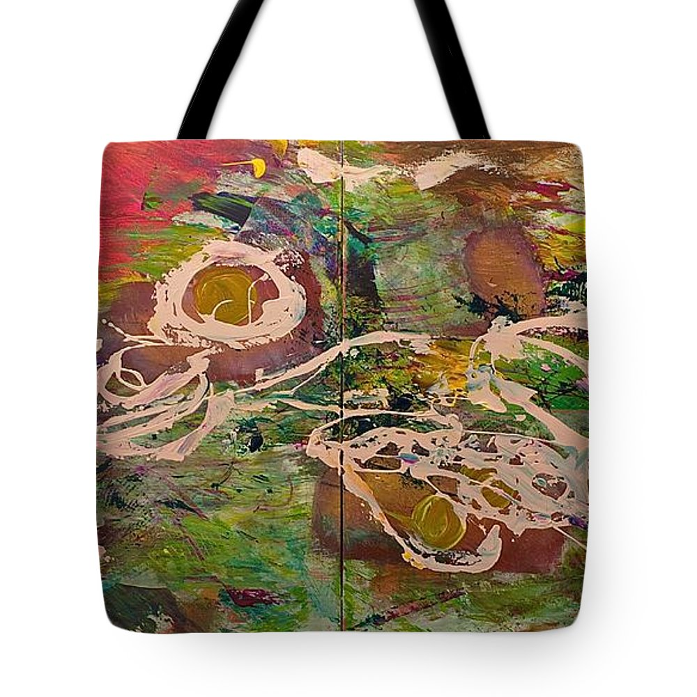 Landscape Tote Bag featuring the painting Journey Forth by Allan P Friedlander