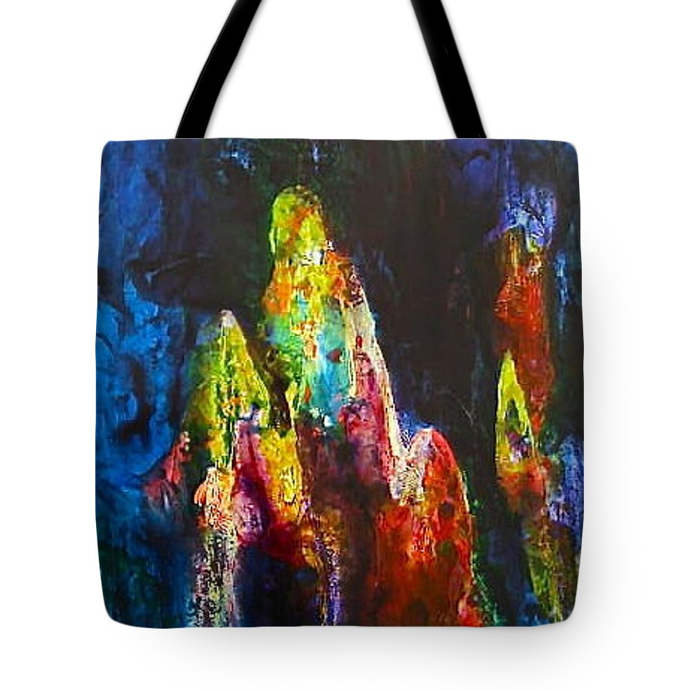 Shawl Tote Bag featuring the painting Journey by Janice Nabors Raiteri