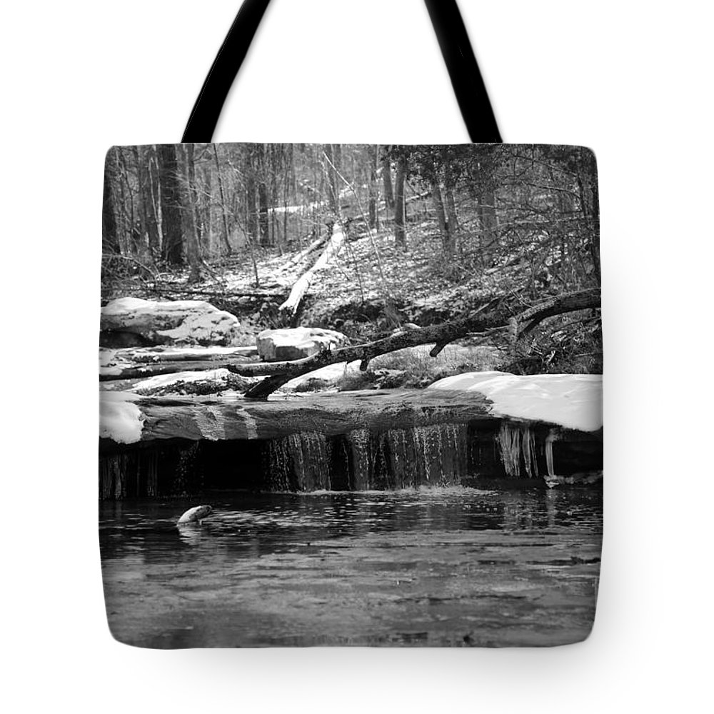 Joy Falls. Water Tote Bag featuring the photograph Joy Falls Kentucky by Dwight Cook