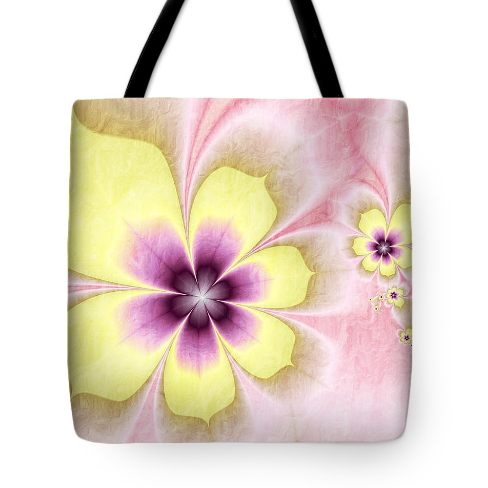Abstract Tote Bag featuring the digital art Joy by Gabiw Art