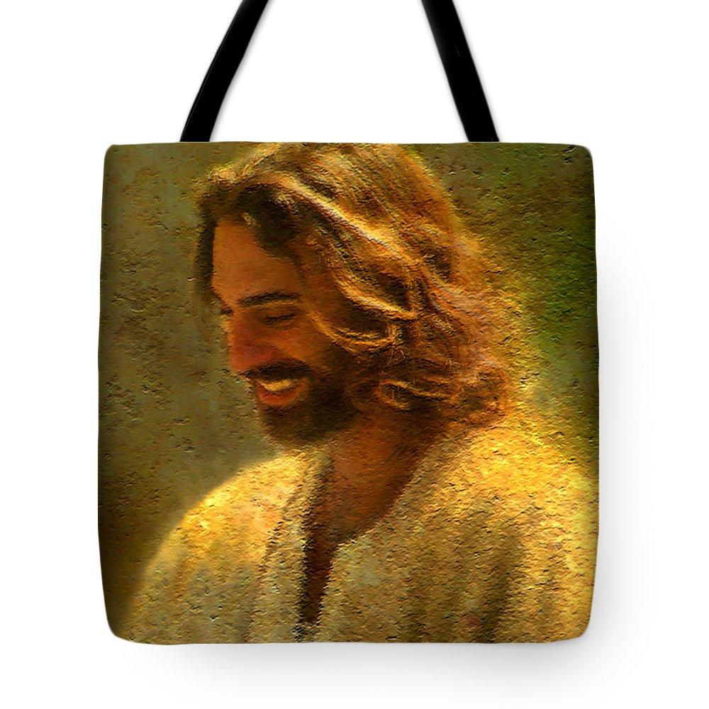 Jesus Tote Bag featuring the painting Joy of the Lord by Greg Olsen