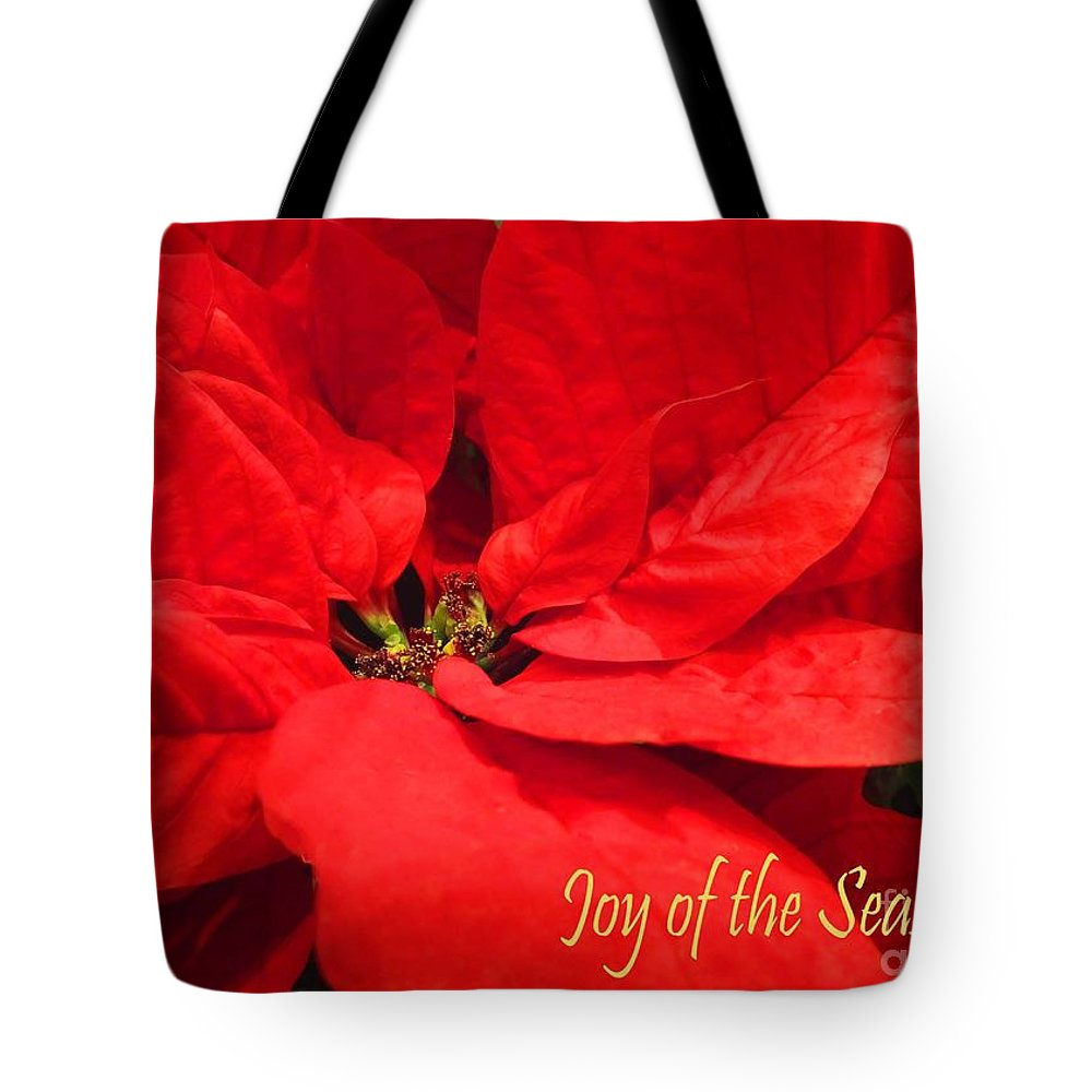 Greeting Card Tote Bag featuring the photograph Joy Of The Season by Lizi Beard-Ward