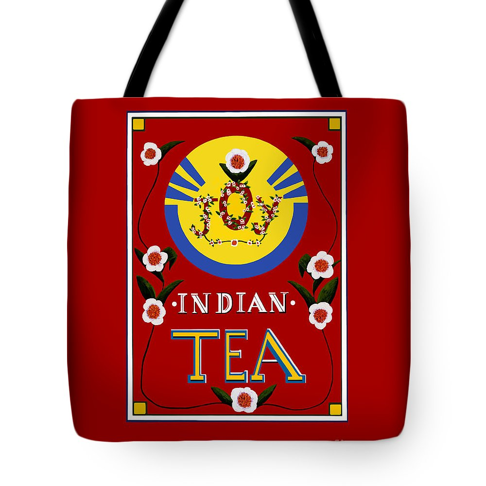 Tea Tote Bag featuring the painting Joy Tea Wider by Michelle Bailey