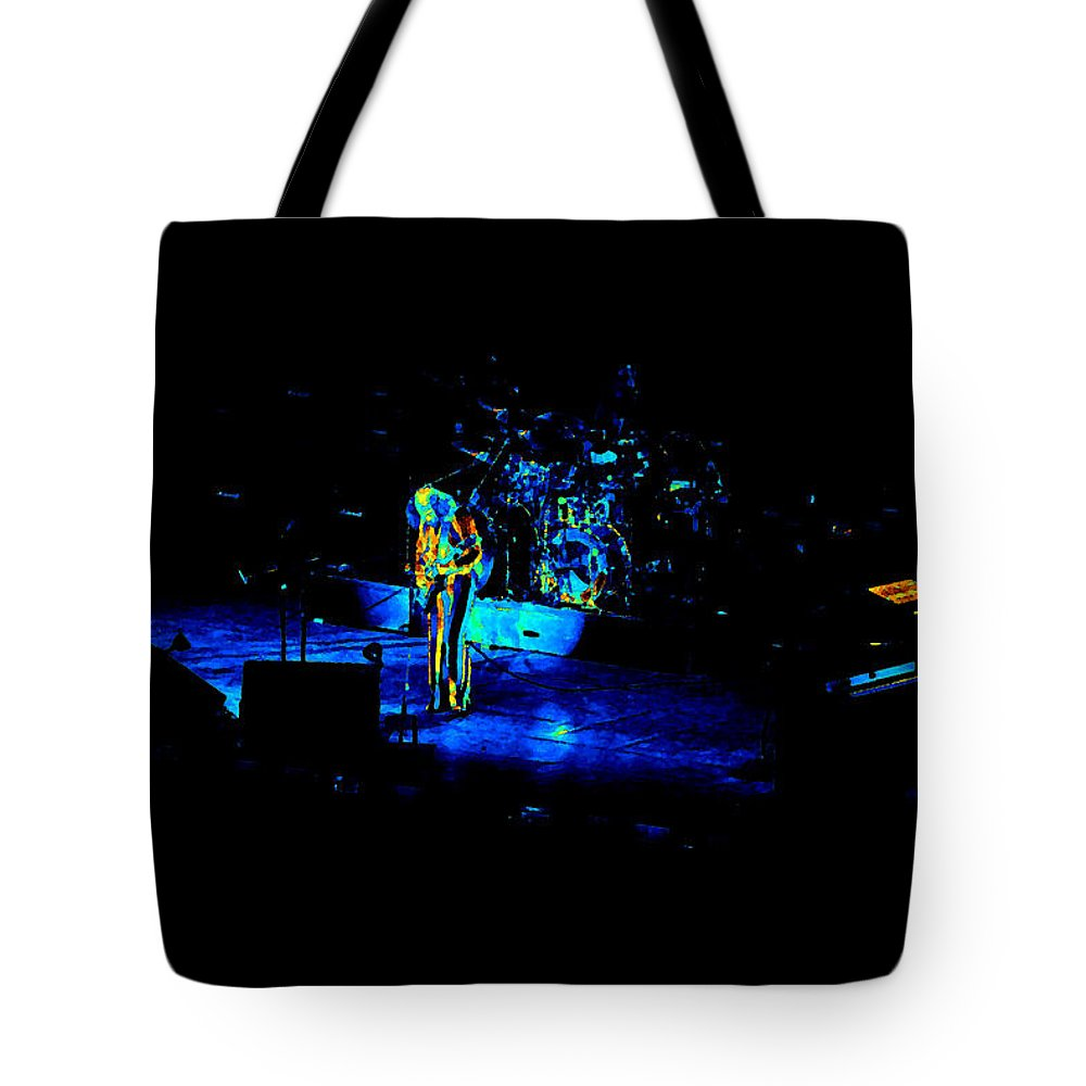 Jethro Tull Tote Bag featuring the photograph Jt #38 Enhanced In Cosmicolors by Ben Upham