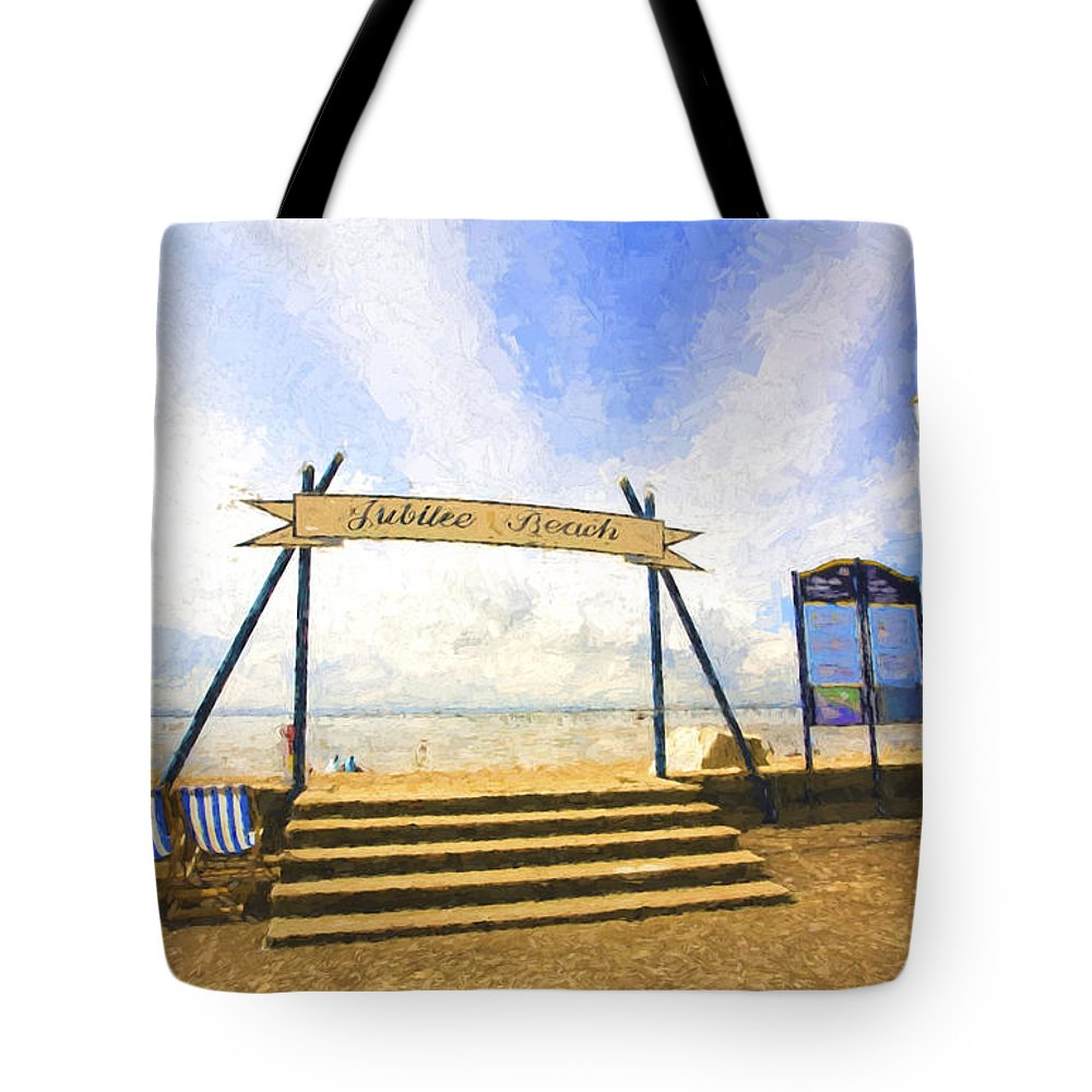 Jubilee Beach Tote Bag featuring the photograph Jubilee Beach Southend On Sea by Sheila Smart Fine Art Photography