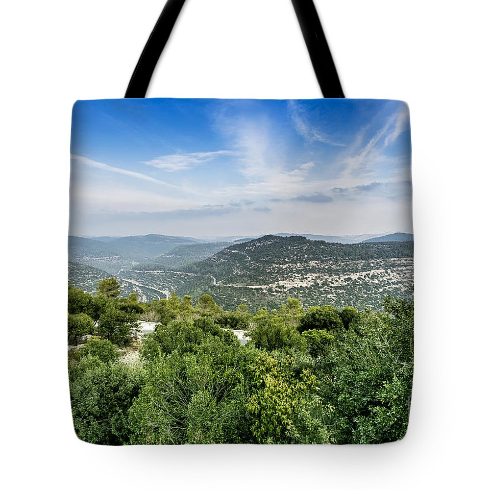 Israel Tote Bag featuring the photograph Judean Foothills Landscape by Sv