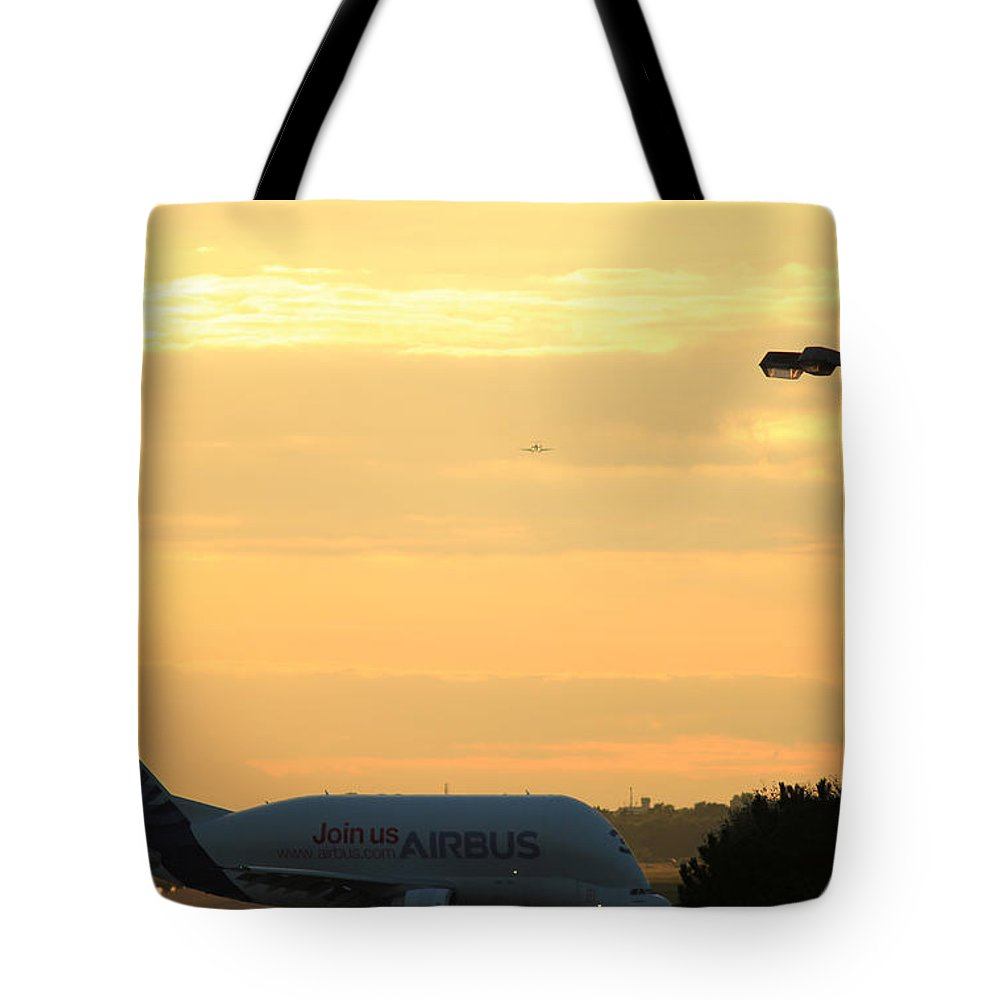 Jumbo Airbus Tote Bag featuring the photograph Jumbo Airbus by Four Hands Art