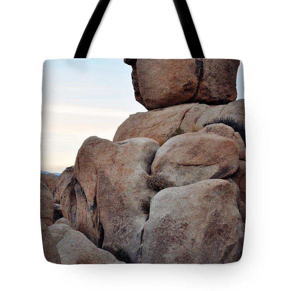 Joshua Tree Tote Bag featuring the photograph Jumbo Rock Joshua Tree by Kyle Hanson
