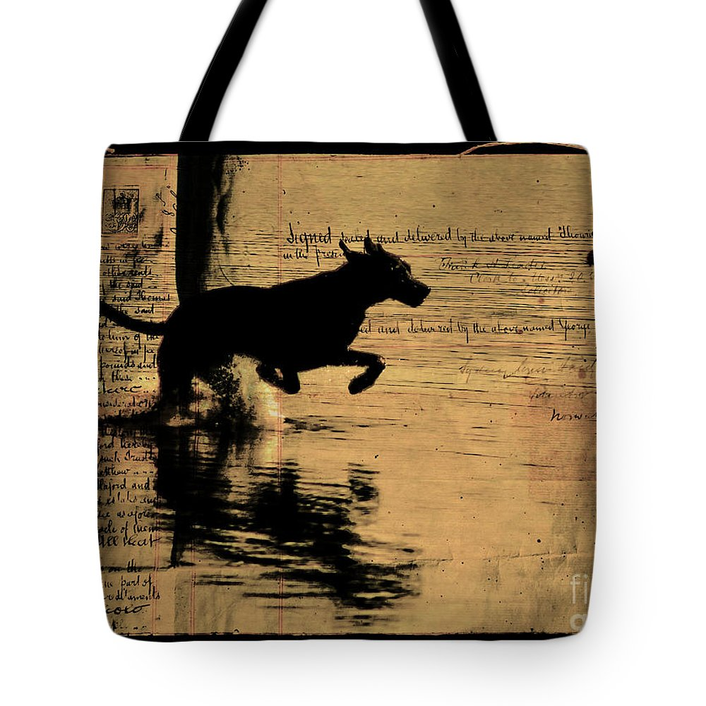 Dog Tote Bag featuring the photograph Jumping by Ben Yassa