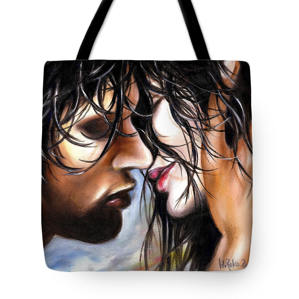 Lovers Tote Bag featuring the painting June Breeze by Hiroko Sakai