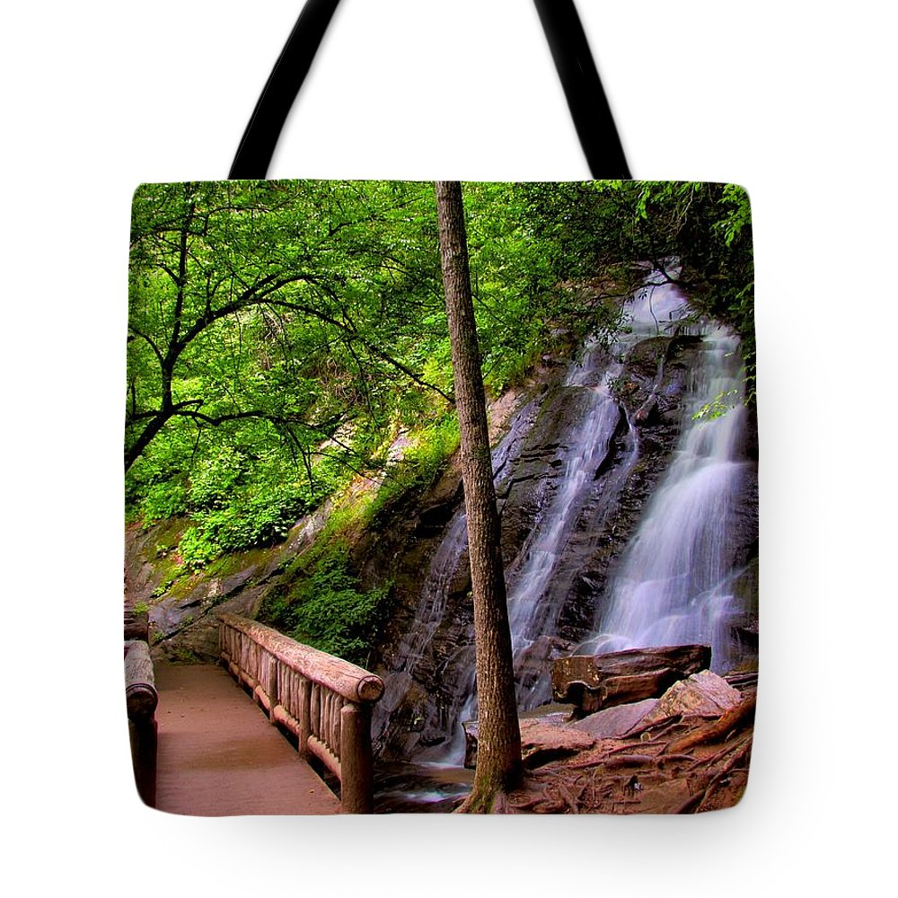 Juney Whank Falls Tote Bag featuring the photograph Juney Whank Falls by Carol Montoya