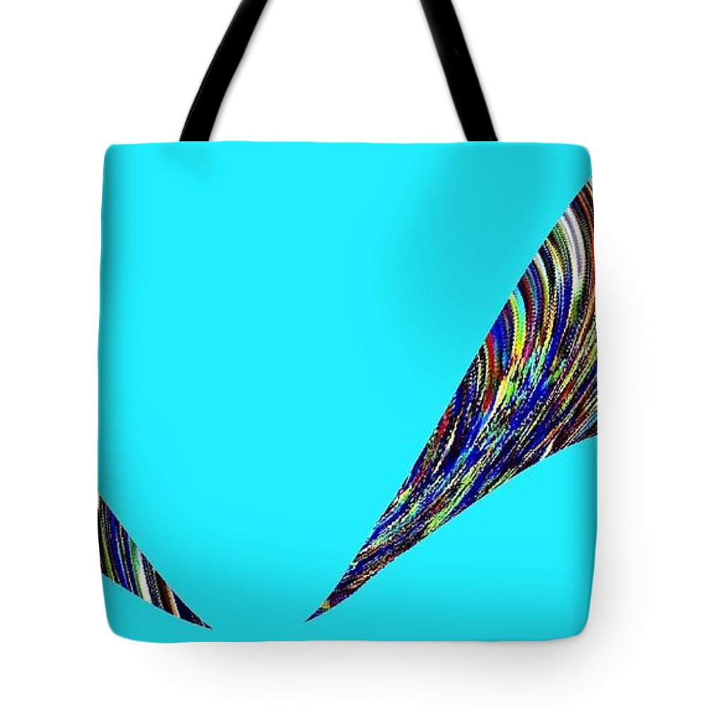 Jungle Twitter Tote Bag featuring the digital art Jungle Twitter by Will Borden