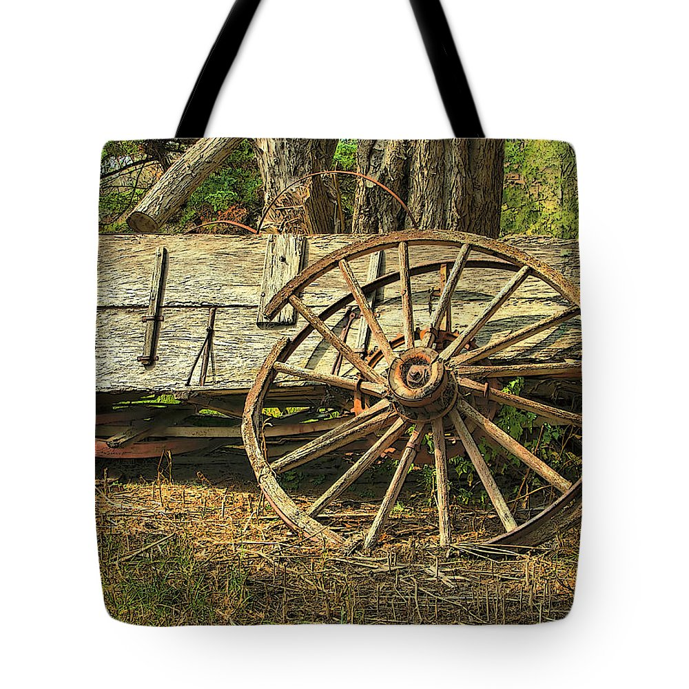 Dan Sabin Tote Bag featuring the photograph Junk Wagon by Dan Sabin