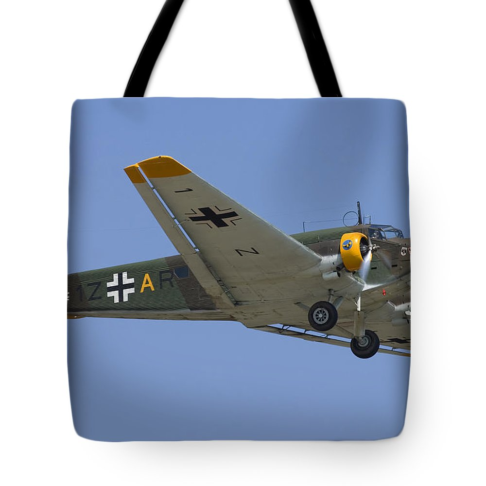3scape Tote Bag featuring the photograph Junkers Ju-52 by Adam Romanowicz
