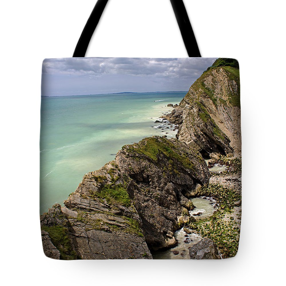 Lulworth Cove Tote Bag featuring the photograph Jurassic Coast From Lulworth Cove by Tony Murtagh